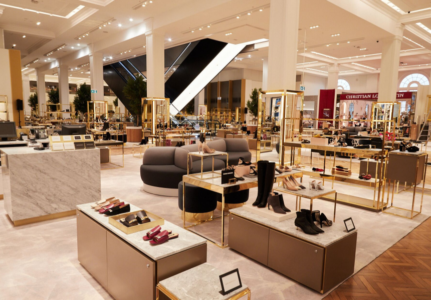 Seventh heaven: David Jones revamps its Elizabeth Street shoe department