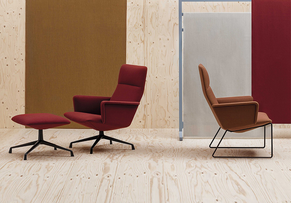 bernhardt design and andreu world pick up gold and silver at the