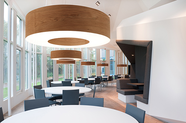 LZF Lamps' Saturnia in BNP Paribas Investment Partners office in Amsterdam.  Image courtesy LZF Lamps.