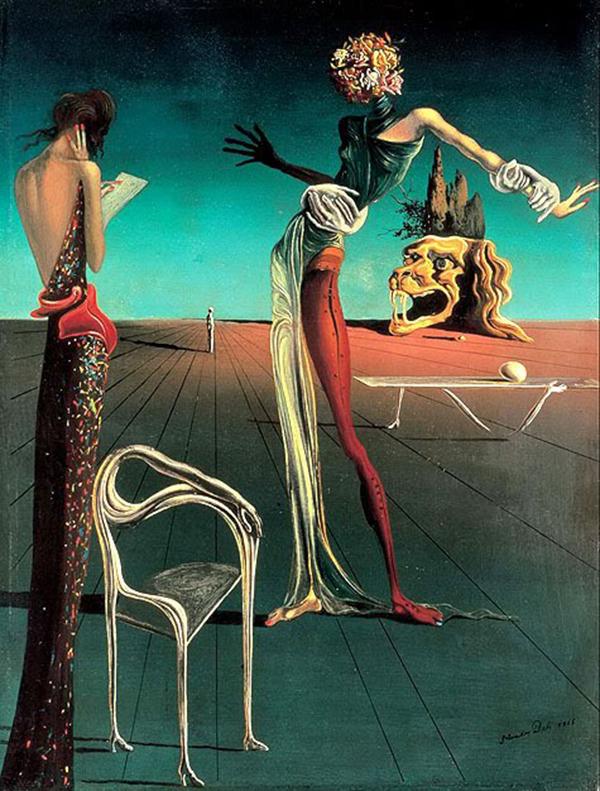 """""""Femme à la Tête Rose"""" by Salvador Dali"""