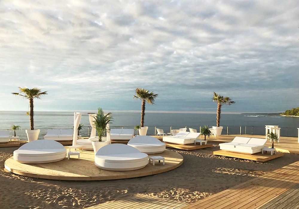 How to hit the daybeds at Europe's best beach club