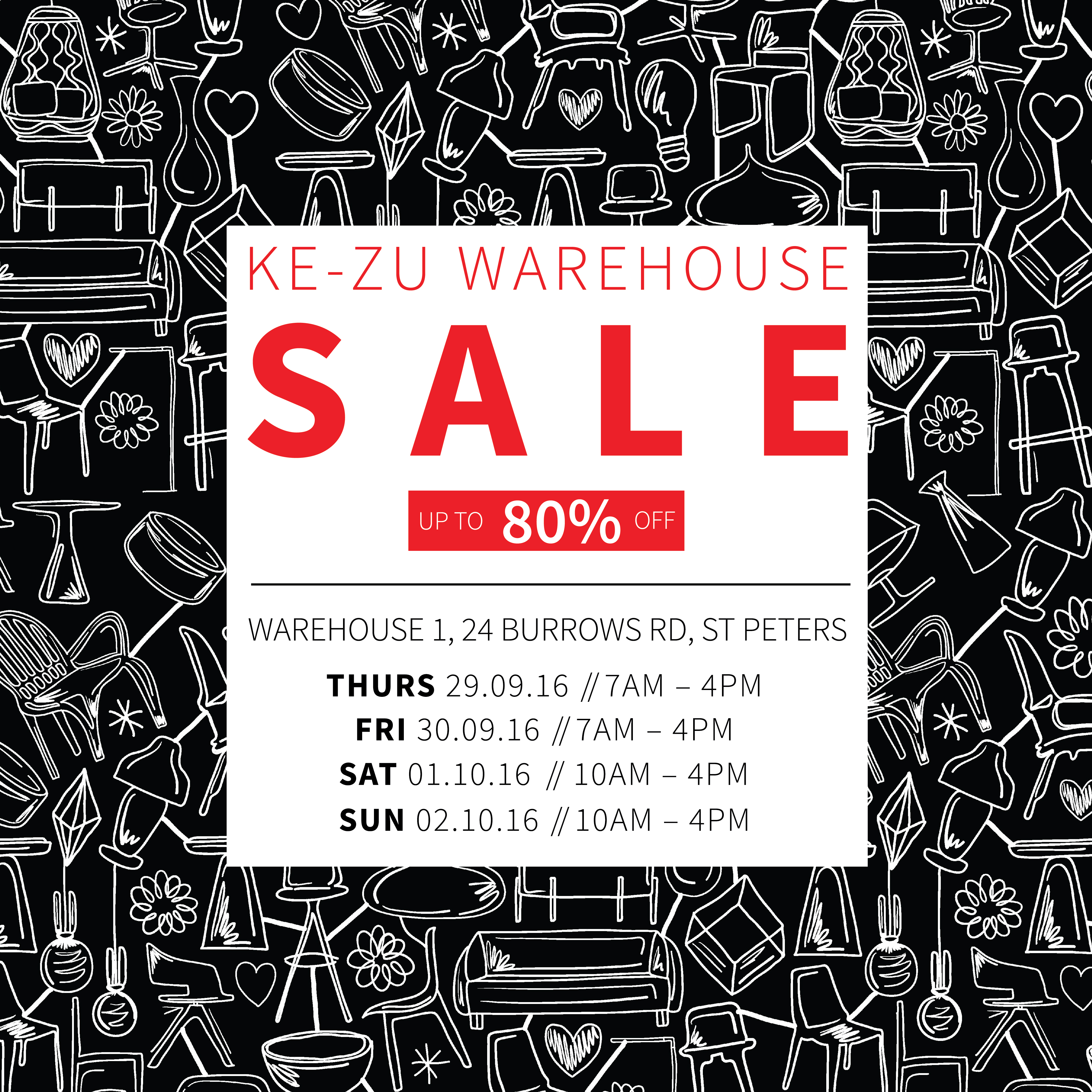 The KE-ZU Warehouse Sale is Coming!