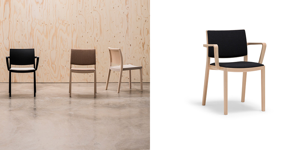 Andreu World Duos Stacking Chairs